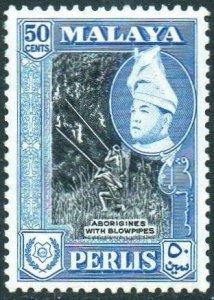 Perlis 1957 50c Aborigines with blowpipes (P12½) MH