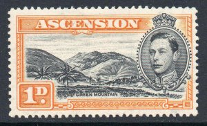 Ascension 1938 KGVI 1d perf 13½ SG 39a mint