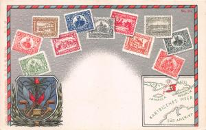 Haiti, Early Embossed Stamp Postcard, #114, Published by Ottmar Zieher, Unused