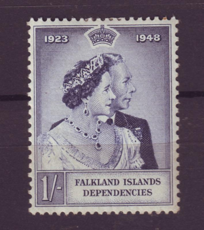 J11297 JL stamps 1948 falkland islands mlh royality #100 silver wedding $110.00