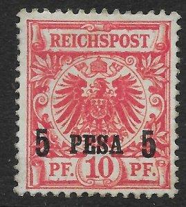 GERMAN EAST AFRICA SG3 1893 5p ON 10pf ROSE MTD MINT