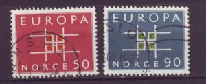 J18366 JLstamps 1963 norway set used #441-2 europa