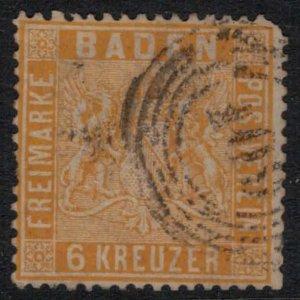 Baden #13a  CV $87.50