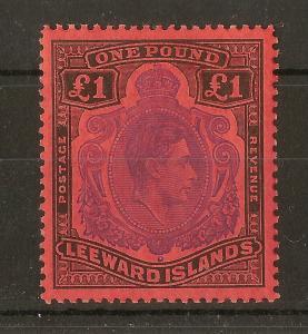 Bermuda 1952 GVI £1 Keyplate SG114c Perf 13 Mint Cat£35