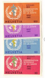 Switzerland #5o36-9 MH officials