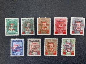 Turkey key MNH 1934 Izmir Fair set! Scott 765-773, CV $675.  Isfila 1325-1323