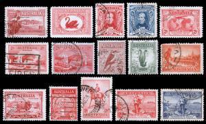 Australia Scott 94 // 158 (1927-36) Used/Mint H F-VF, CV $34.75 B