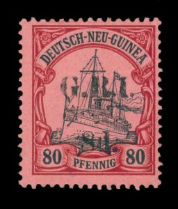 German Colonies - NEW BRITAIN G.R.I. NEW GUINEA  8d/ 80pf lake  Sc# 26 mint MH