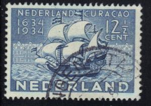 Netherlands  1934 used Tercentenary Curacao. 12 1/2 ct #