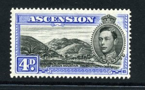 Ascension 1938 KGVI 4d perf 13½ SG 42c mint