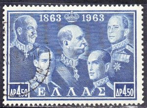 GREECE  SC# 748  USED 19563  SEE SCAN