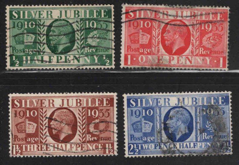 Great Britain Scott 226-229 Used 1935 Silver Jubilee set