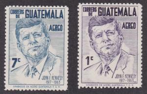 Guatemala # C299 & C302, John F. Kennedy, NH, 1/3 Cat.
