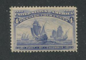 1893 US Stamp #233 4c Mint Hinged F/VF Original Gum Catalogue Value $50