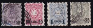 Germany Offices in Turkey 1884 Nr. 1, 2, 4 & 6. Fine/VF/Used(O) Nice CDS