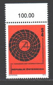 Austria. 1974. 1453. Conference on Transport. MNH.
