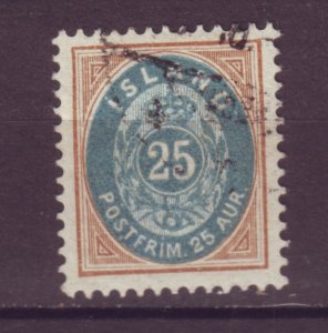 J25588 JLstamps 1896-1901 iceland used #29 numeral