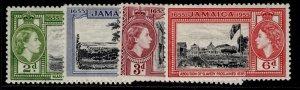 JAMAICA QEII SG155-158, complete set, LH MINT.