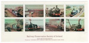 (I.B) Ireland Cinderella : Railway Preservation Society Mini-Sheet 20p