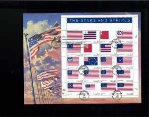 2000 Baltimore Maryland Stars & Stripes Historic Flags Sheet First Day Cover