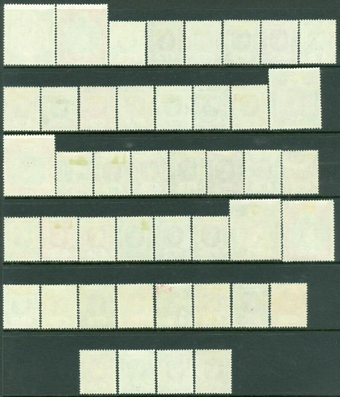EDW1949SELL : LEEWARD ISL 1954 Scott #133-47. 3 Cplt sets. VF MOGLH Cat $203 $