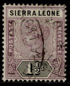 SIERRA LEONE QV SG43, 1½d dull mauve & black, FINE USED. Cat £22.