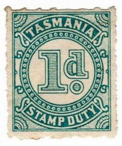 (I.B) Australia - Tasmania Revenue : Stamp Duty 1d (1931)