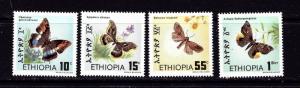 Ethiopia 1080-83 Hinged 1983 Butterflies