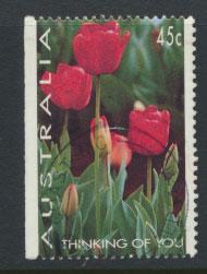 Australia SG 1446  Used  x booklet left margin imperf - Flowers