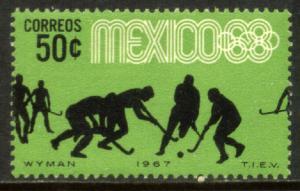 MEXICO 983, 50c Hockey 3rd Pre-Olympic Set 1967. Mint, NH