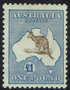 AUSTRALIA 1915 KANGAROO 1 POUND 3RD WMK