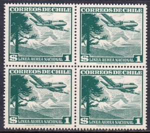Chile - Scott #C207 - Block/4 - MNH - SCV $3.40