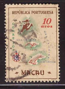 Macao Scott 386 Used map stamp
