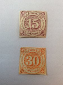 Thurn and Taxis 15K SG-66 & 30K SG-67 Southern District
