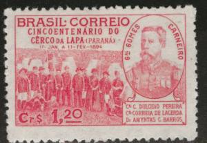Brazil Scott 619 MH* 1944 stamp CV$1.25