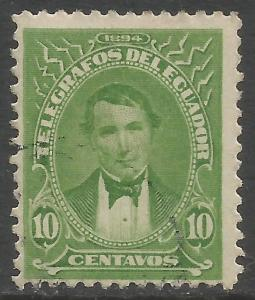 ECUADOR TELEGRAPHS Hiscocks 14 VFU 943B