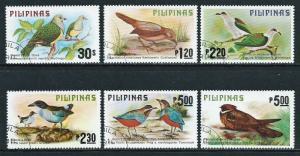 Philippines, Sc #1392-1397, Birds Set, Used