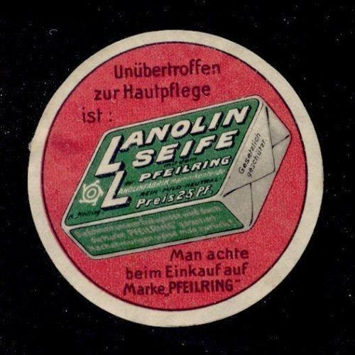 Pfeilring LANOLIN SEIFE Advertising Poster Stamp