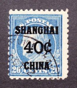 US K13 40c (20c) Shanghai Overprint Used Fine SCV $325