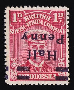 RHODESIA 1917 Half Penny KGV Admiral 1d ERROR INVERTED VARIETY SPACED NY MNH **