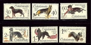 Czechoslovakia 1312-17 MH 1965 Dogs