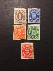 Netherlands Antilles sc 127-131 MHR+uhr