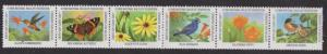 National Wildlife Federation Strip of 6 Diff 1999 Wildlife Stamps  I Combine S/H
