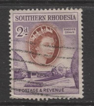 Southern Rhodesia- Scott 83 - QEII Definitives - 1953 - Used - Single 2d Stamp