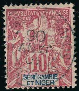 Senegambia & Niger #5 Used F-VF hr...Fill out your French Colony spaces!