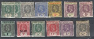 Gilbert & Ellice KGV 1912/27 Collection Of 13 To 1/- SG12/30 MNH/MH J7611