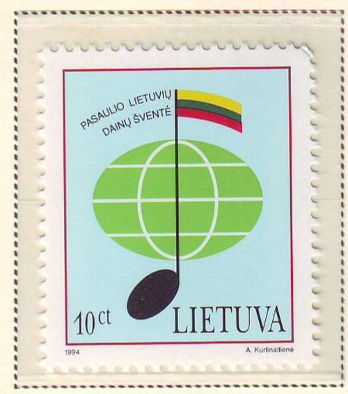 Lithuania Sc 496  1994 Song Festival s stamp  mint NH