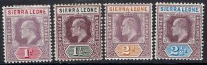 SIERRA LEONE 1904 KEVII 1D - 21/2D WMK MULTI CROWN CA