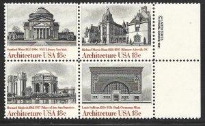 USA 1928-1931: 18c American Architecture, MNH, VF