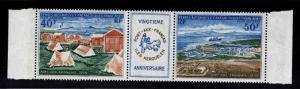 France Southern & Antarctic Territory Scott C25a MNH** 1971 pair w label CV$40